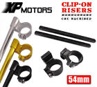 "54mm CNC Billet 1"" Riser Clip-On Handlebars Fit All 54mm Ohlins Super Bike Forks"