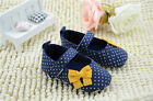 The fashion Girl classic Yellow bowknot Crib Shoes Size 0-6 6-12 12-18 Months