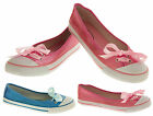 Ladies Ballerinas Pumps Bow Slip On Casual Flats Dolly Shoes NEW Sz Size 3 4