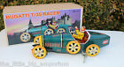 Wind-Up Tin Toy Bugatti T-35 Racer Car - Key Operated Brand New In Box