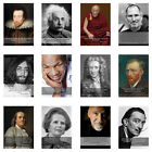 Geniuses Famous People Stars and thier Quotes A3 or A4 Posters Print POSTER