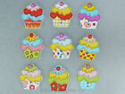Cute painted wooden cupcake strong fridge magnets neodymium magnet pk 4 or 8