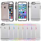 Rugged Hybrid Transparent Rubber Hard Cover Case for Apple iPhone 6 6s Plus