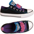 New Double Tongue Ox Kids Girls All Star Junior Converse Trainers Shoes Sizes Uk