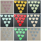 TEDDY BEAR HEAD SHAPE 2 HOLE 4, 6, 8 OR 10 BUTTONS VARIOUS COLOURS BABY KNITS