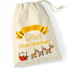 Personalised Christmas Stocking / Sack Baby's First Christmas Xmas Santa Sack