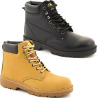 MENS LADIES SAFETY BOOTS STEEL TOE CAP SHOES LEATHER WORK ANKLE BOOTS TRAINERS