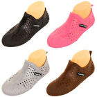 Womens Slip On Sport Shoes Water Aqua Swim Pool Yoga Socks Plastic Jelly Garden