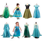 New Style Frozen Elsa Anna Halloween Kids Girl Costume Cosplay Party Fancy Dress