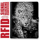 LEOPARD GENUINE LEATHER RFID ANTI THEFT PASSPORT WALLET ORGANIZER COVER HOLDER