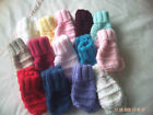 New Hand Knitted Baby Mittens In Various Colours Size 0-6 Months.