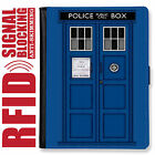 DOCTOR WHO GENUINE LEATHER RFID ANTI THEFT PASSPORT WALLET ORGANIZER COVER