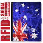 AUSTRALIA FLAG GENUINE LEATHER RFID ANTI THEFT PASSPORT WALLET ORGANIZER COVER