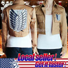 US Seller Attack on Titan Helloween Legion Cosplay Costume Jacket Coat man/womem