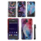 For Huawei Ascend Plus H881C Valiant Y301 PATTERN HARD Case Phone Cover + Pen