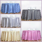 "120"" Satin Chevron ROUND TABLECLOTH Wedding Party Decorations Linens WHOLESALE"