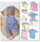 NEW | Butterick Baby Fashion Essentials Infants Sewing Pattern 5585 Romper Set