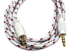 3.5mm Braided Stereo Audio Auxiliary AUX Cable Samsung Galaxy Note 5 4 Edge 3 2