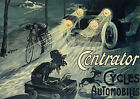 Centrator Cycles Automobiles 1908 Poster reproduction