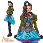 Sexy Deluxe Mad Hatter Costume Ladies Alice in Wonderland Fancy Dress Leg Avenue