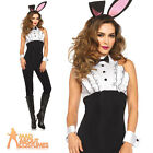 Adult Tuxedo Bunny Girl Costume Ladies Sexy Waitress Fancy Dress Leg Avenue
