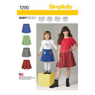 Simplicity Childs & Girls Sewing Pattern 1290 Set of Skirts
