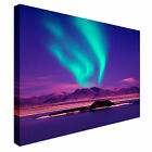 Purple and Green Northern Lights Canvas wall Art prints high quality great value