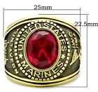United States US Marines Mens Ring Red Size 9 12 13 14 R W Z+1 USA LTK414703GE