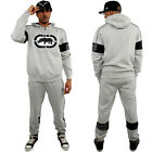Ecko Athletic Sports Fleece Tracksuit Gym Running Marc Hooded Mens Active Grey
