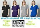 Wonder Wink WonderWork Women's 101 V Neck Scrub Top Pick Size & Color
