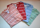 NWT Lacoste Men's Contemporary Short Sleeve Tee V-Neck Striped T-Shirt