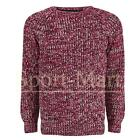Mens Brave Soul Marl Cable Knitted Crew Neck Smart Kins Jumper Sweater Size