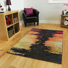 Soft Brown Yellow Small Large Rugs Modern Easy Clean Non Shed Living Room Mats