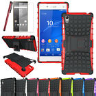 Sony XPERIA Z5 [Slim Armor] Hybrid Tough Shock Proof Case Stand +Free LCD Guard