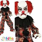 HALLOWEEN HORROR SCARY CIRCUS CLOWN - age 7-12 - kids boys fancy dress costume