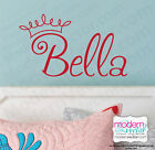 PRINCESS Personalized Girls Name Vinyl Wall Decal Lettering Crown Nursery Room