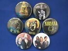 The NIRVANA Band 7 New pin backs buttons SELECT SIZE badges NEAT