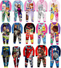 Kids Boys Girls Fleece All in One Character Childrens Pyjamas 1.5-8 Years