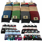 Mens 12 Pairs Assorted Socks Mens Stripe Argyle Plain Cotton Rich Socks