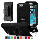 For iPhone 6S Plus/ iPhone 6S Impact Shockproof Case Holster Belt Clip Cover