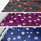 Little plum flora satin silk table feet suit fabric curtain decoration cushion