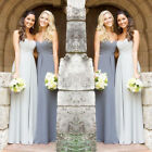 New Chiffon Bridesmaid Dresses Long Prom Evening Gowns Size 4-6-8-10-12-14-16