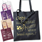 OOPS HAVE I BOUGHT PROSECCO INSTEAD OF BREAD COTTON TOTE SHOPPING BAG 38cm x42cm