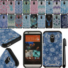 For HTC Desire 510 Anti Shock TPU HYBRID Silicone HARD Back Case Cover + Pen