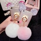 3D Cute Bling Diamond Mickey Rabbit Tail Ring Soft Case Cover for iPhone/Samsung