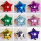 "10PCS 10"" Five-pointed Star Nitrogen Foil Balloon Holidays Party Supply HOT LA"