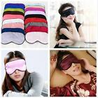 100% Silk Soft Sleeping Eye Mask Cover Shade Travel Relax Rest Aid Blindfold LA