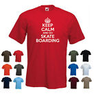 'Keep Calm and Go Skate Boarding' Funny Mens Skateboarding t-shirt