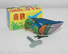 Wind-Up Tin Toy Pecking Blue Bird Brand New In Box - Finch Animal