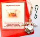 Baby's First 1st Christmas Snowflake Angel Christmas Tree Ornament KeepsakeGift